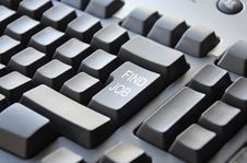 Free Keyboard Find Job Stock Image - 35349911