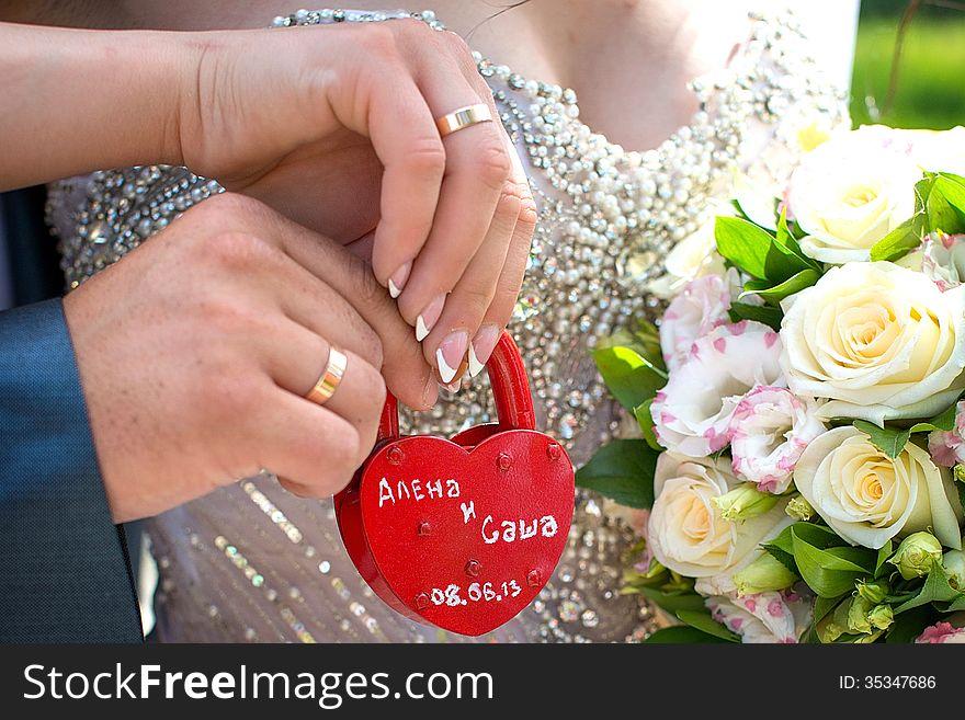 Padlock wedding