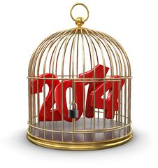 Gold Cage With 2014 &x28;clipping Path Included&x29; Stock Image
