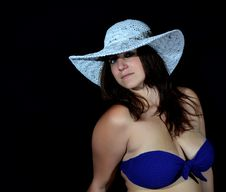 Free Woman With Hat Stock Photo - 35357790