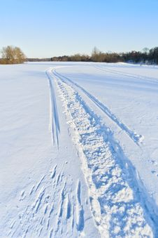 Free Snowmobile Track Stock Photo - 35357950