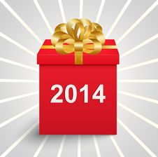 Free Surprise Box With A New Year Inscription Royalty Free Stock Image - 35359566