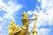 Free Golden Kinnari Lighting Pole Stock Photos - 35357263