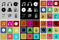 Free Music Icons Royalty Free Stock Images - 35360169