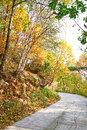 Free The Quiet Bend Path _ Autumnal Scenery Stock Photo - 35366970