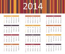 Free 2014 Year Calendar Stock Photos - 35362783