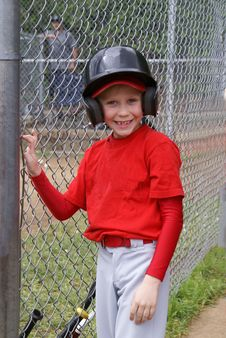 Free Little League Player, Stock Photos - 35365573