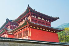 Free The Red Temple Royalty Free Stock Image - 35367436