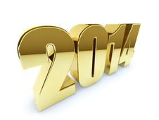 Free New 2014 Year Golden Figures Royalty Free Stock Photo - 35367785