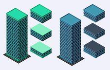 Free Isometric Building Royalty Free Stock Image - 35368966