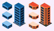 Free Isometric Building Stock Photo - 35369010