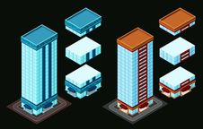 Free Isometric Building Royalty Free Stock Photography - 35369017