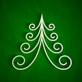Free White 3d Paper Christmas Tree Royalty Free Stock Images - 35374919