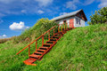 Free Village House At Hill, With Stairs Stock Photography - 35377782