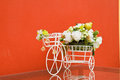 Free Bicycle With Artificial Flower Stock Photography - 35379162