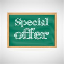 Free Special Offer - The Inscription Chalk Royalty Free Stock Photo - 35375785