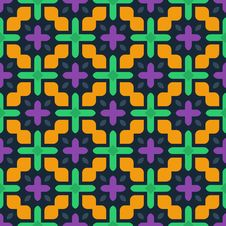Free Vector Seamless Geometric Pattern Royalty Free Stock Photography - 35376077