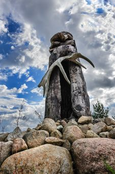 Saami Sejd, Pagan Idol Stock Images