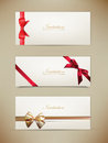 Free Gift Cards And Invitations With Ribbons. Stock Photo - 35385700