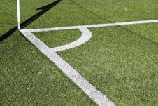 Free Corner Of A Football Field Royalty Free Stock Photography - 35380217