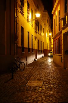Free Night In Town Royalty Free Stock Image - 35381346