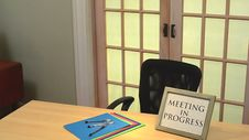 Meeting In Progress Sign Royalty Free Stock Photo