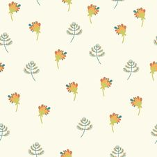 Free Seamless Pattern With Small Flowers Stock Photos - 35382953