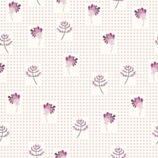 Free Seamless Pattern With The Gentle Flowers Royalty Free Stock Image - 35382956