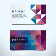 Free Business Card Abstract Background. Stock Photos - 35382973