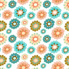 Free Seamless Floral Pattern Stock Image - 35382991