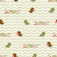 Free Seamless Pattern With Birds And The Inscription Su Royalty Free Stock Photos - 35382998