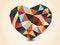 Free Origami Polygonal Heart. Stock Photos - 35381933
