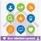 Free Web User Interface Symbols Set Stock Photo - 35385920