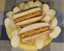 Free Hot Dogs Royalty Free Stock Photography - 35392597