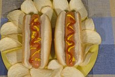 Free Hot Dogs Stock Photography - 35392602
