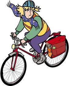 Free Female Cyclist Royalty Free Stock Photo - 35392715