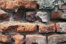 Free Ruined Brick Wall Royalty Free Stock Images - 35396399