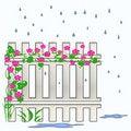 Free Garden Fence Royalty Free Stock Photo - 3540565