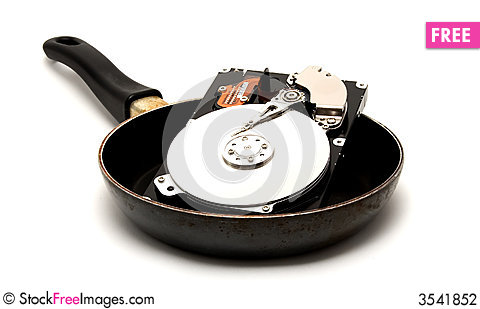 Free Cooked Hard Drive Stock Photography - 3541852
