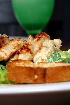 Free Caesar Salad Royalty Free Stock Photography - 3540567