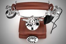 Free Old Phone (XXL Size) Stock Photography - 3540622