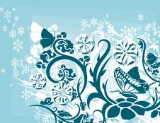 Free Ornamental Winter Background Royalty Free Stock Photography - 3541377
