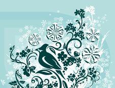 Free Ornamental Winter Background Stock Image - 3541401