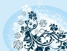 Free Ornamental Winter Background Royalty Free Stock Photos - 3541408