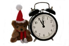 Free Teddy Bear And Alarm Clock Stock Photo - 3541410