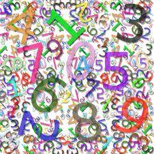 Free Numeric Pattern Royalty Free Stock Image - 3541556
