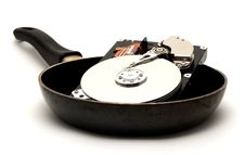 Cooked Hard Drive Stock Photos