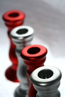 Free Red And Silver Holders III Stock Images - 3542114
