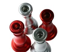 Free Red And Silver Holders V Stock Images - 3542124