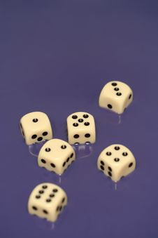 Free Dice In Blue Water II Royalty Free Stock Photo - 3542135